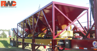 RWC Equipment Leasing Portable Bin Feeder Plant